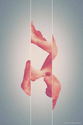 Photograph - Apricot Memorism - Surreal Abstract Elephant Bone Collage With Lines by Joseph Westrupp