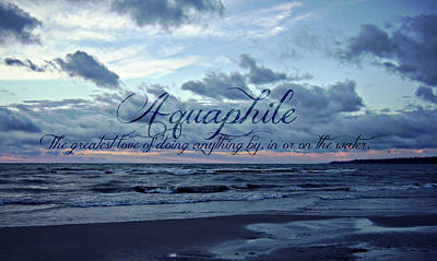 Photograph - Aquaphile by Cyryn Fyrcyd