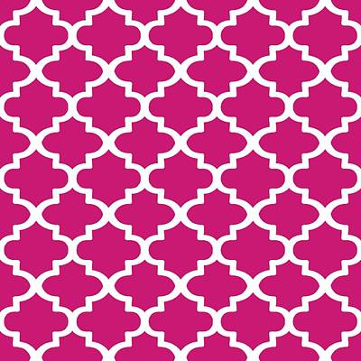 Digital Art - Arabesque Architecture Pattern In Dull Pink by Taiche Acrylic Art