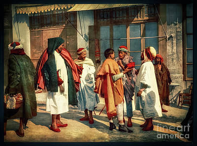 Photograph - Arabs In Algeria 1899 - Remastered by Carlos Diaz