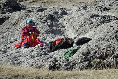 Photograph - Arareko Reservation Woman by Jeff Brunton