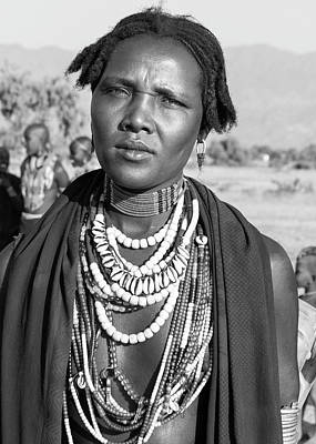 Photograph - Arbore Woman 1 by Mache Del Campo
