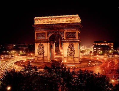 Photograph - Arc De Triomphe In Place De Letoile At by Eliot Elisofon