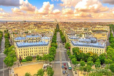 Photograph - Arc De Triomphe Skyline by Benny Marty