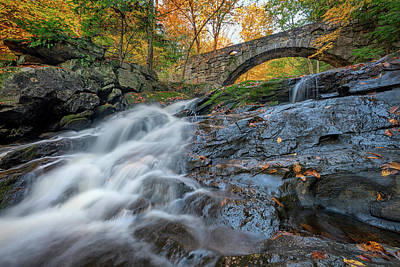 Photograph - Arch Bridge At Vaughan Woods by Rick Berk