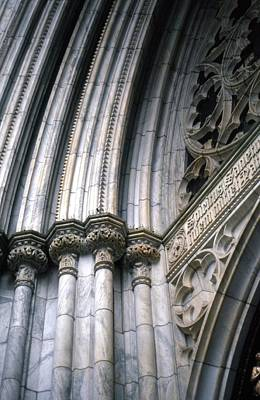 Photograph - Arch Detail St. Patrick's by John Schneider