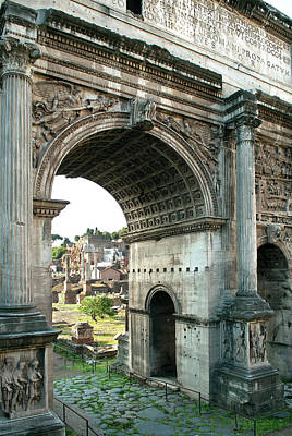 Photograph - Arch Of Septimius Severus At Northeast by Danita Delimont