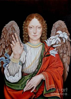 Painting - Archangel Gabriel by Nathalie Chavieve