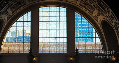 Photograph - Arched Windows City Hall San Francisco Ca by Chuck Kuhn