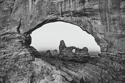 Photograph - Arches National Park Monochrome Landscape by Gregory Ballos
