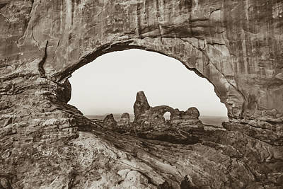 Photograph - Arches National Park Sepia Landscape by Gregory Ballos