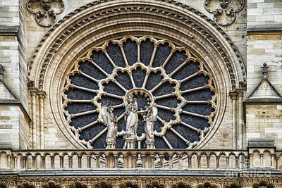 Photograph - Architectural Details Cathedral Notre Dame De Paris France by Wayne Moran