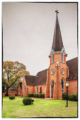 Photograph - Architectural Photograph Of Christ Episcopal Church In Nacogdoches East Texas Piney Woods by Silvio Ligutti