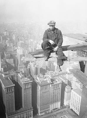 Photograph - Architectural Worker On Skyscraper Beam by Bettmann