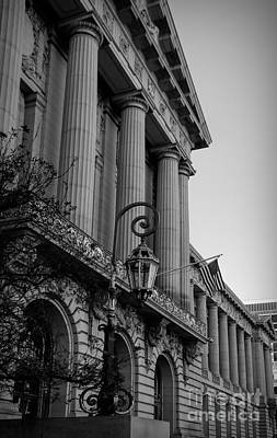 Photograph - Architecture Exterior City Hall San Francisco Bw by Chuck Kuhn