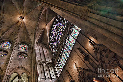 Photograph - Architecture Interior Notre Dame Paris  by Chuck Kuhn