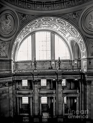 Photograph - Architecture Spectacular Interior City Hall San Francisco  by Chuck Kuhn