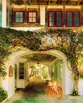 Photograph - Archway To Paradise Italian Villa by Debra and Dave Vanderlaan