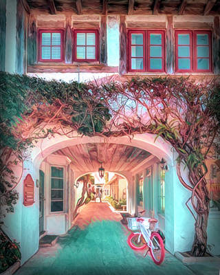 Photograph - Archway To Paradise Palm Beach Colors by Debra and Dave Vanderlaan