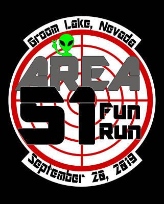 Digital Art - Area 51 Fun Run by Ricky Barnard