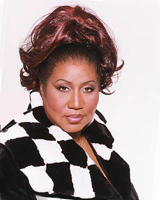 Photograph - Aretha Franklin Portrait Session by Harry Langdon