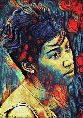 Painting - Aretha Franklin by Zapista Zapista