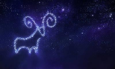 Digital Art - Aries Zodiac Sign by Da-kuk