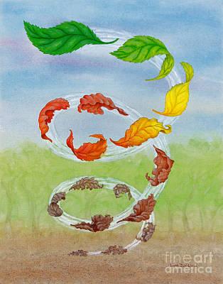 Wall Art - Painting - Arise Fallen Leaf by Lynn Zuk-Lloyd