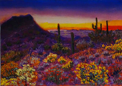 Painting - Arizona Longings Desert Love by Laura Gabel