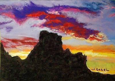 Painting - Arizona Longings Drama Queen by Laura Gabel