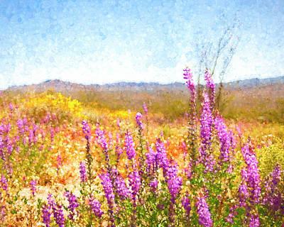 Digital Art - Arizona Lupin by Sandra Selle Rodriguez