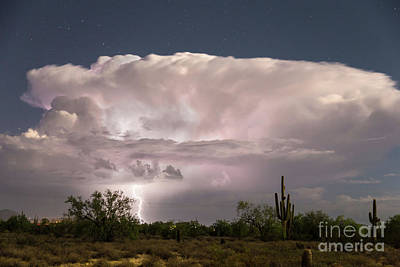 Photograph - Arizona Monsoon Thunderstorm  by James BO Insogna