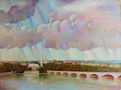 Painting - Arlington Memorial Bridge by Vlad Zabavskiy