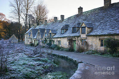 Photograph - Arlington Row Bibury In The Winter Frost by Tim Gainey