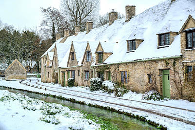 Photograph - Arlington Row Bibury In The Snow by Tim Gainey
