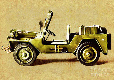 Unicorn Dust - Army jeep by Jorgo Photography - Wall Art Gallery