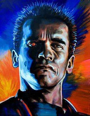 Painting - Arnold - Terminator by Robert Korhonen