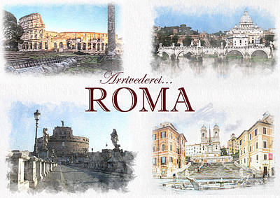 Thomas Kinkade Rights Managed Images - Arrivederci Roma 1 Royalty-Free Image by Daniele Chiarottini