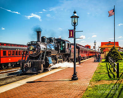 Photograph - Arriving At Strasburg Station by Nick Zelinsky