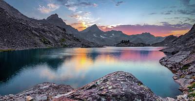 Photograph - Arrowhead Lake Sunset Reflections by Leland D Howard