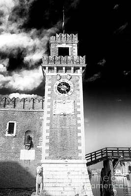 Photograph - Arsenale Di Venezia Clock Tower by John Rizzuto