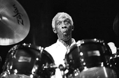 Photograph - Art Blakey Live by Tom Copi