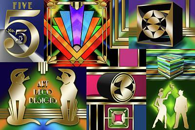 Digital Art - Art Deco Collage 1 by Chuck Staley