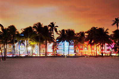 Us State Photograph - Art Deco District Miami South Beach by Ixefra