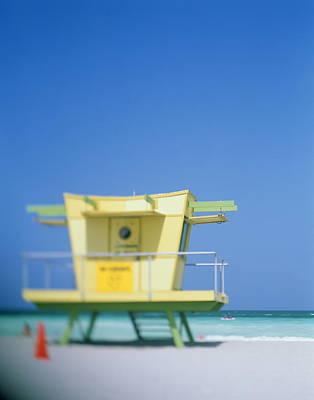 Photograph - Art Deco Lifeguard Stand, Close-up Soft by Jerry Driendl