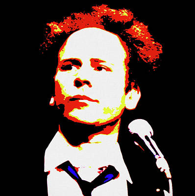 Painting - Art Garfunkel Pop Art by Dan Sproul
