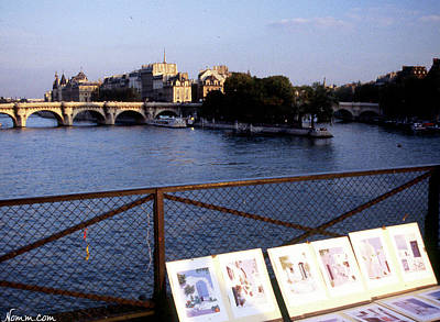 Photograph - Art On The Pont Des Art by Rein Nomm