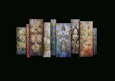 Photograph - Art Panels - Antique Wallpaper  by Andrea Kollo