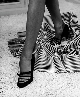 Photograph - Artful Shot Of Model Showing Off A Pair by Nina Leen