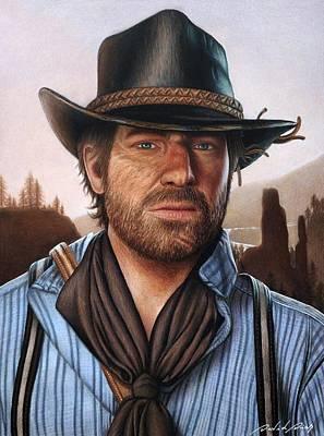 Drawing - Arthur Morgan - Red Dead Redemption by David Dias
